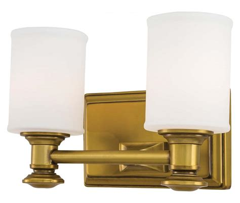 Gold Bathroom Vanity Lights Minka Lavery 2 Light Bath Vanity Light With Gold Finish Liberty Gold 5172 249 From Harbour Point