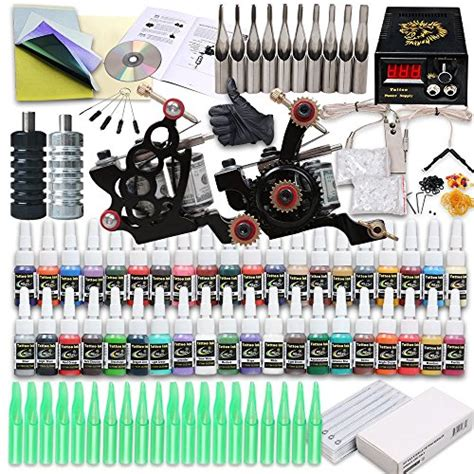 tattoo kits amazon starter kit 2 machine power supply needles