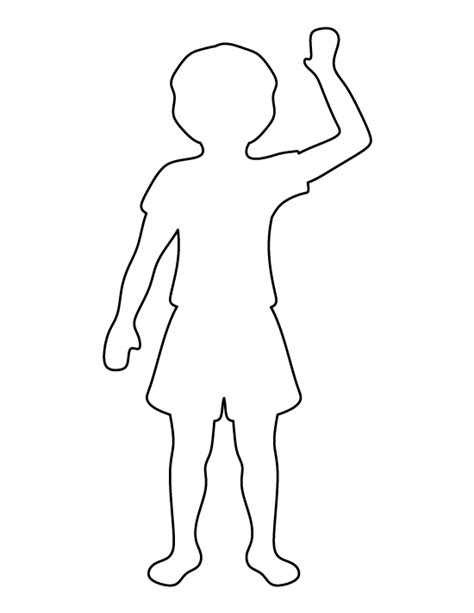 Child Template by Child Pattern Use The Printable Outline For Crafts