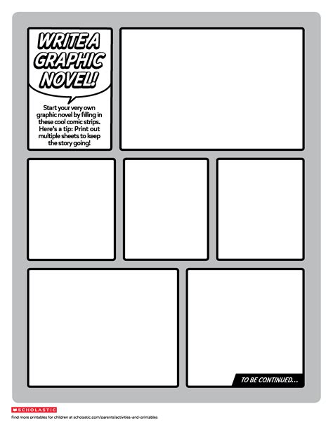 Create Your Own Graphic Novel Template   Worksheets
