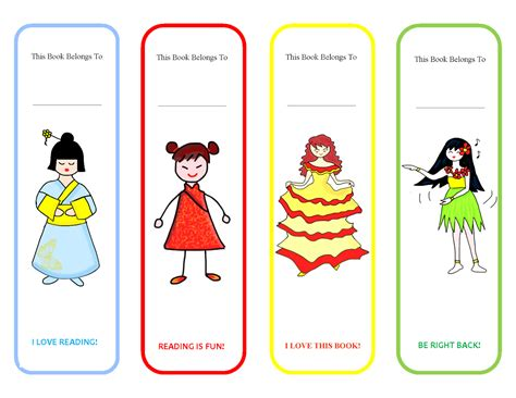 printable bookmarks for young adults printable bookmarks for girl activity shelter