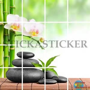 sticker carrelage cuisine salle de bain zen galets