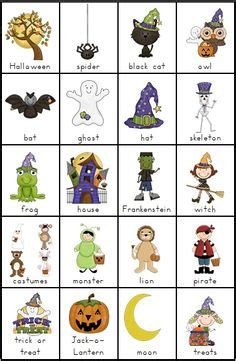 halloween flashcards printable halloween vocabulary sheets festival collections