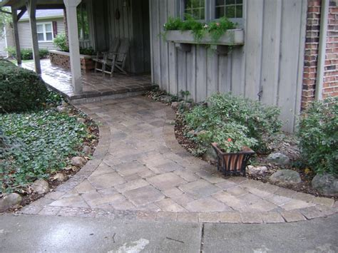 paved front walkway porch my style pinterest
