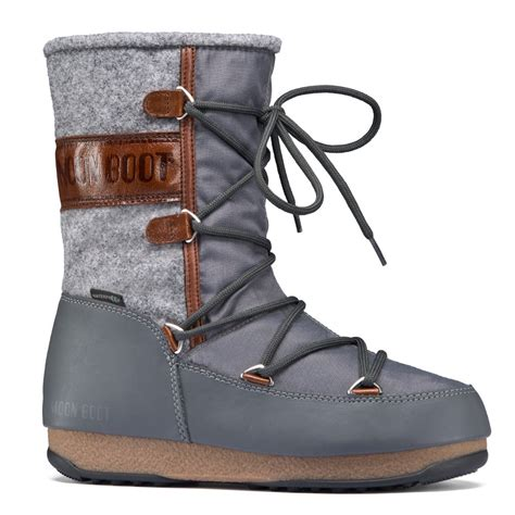 moonboot moon boots vienna felt grey brown waterproof