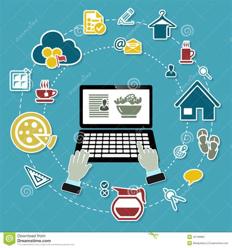 work from home stock vector image 42796863