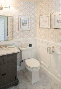 wallpapered bathrooms ideas 1000 ideas about wainscoting bathroom on bead