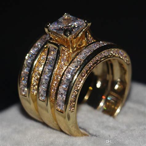 promotion women men jewelry    wedding ring kt yellow gold