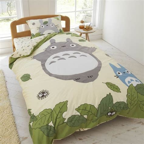 totoro bed set comforter cover totoro and studio ghibli on pinterest