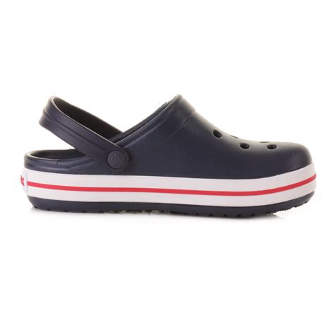 croc jelly sandals childrens boys crocs crocband navy sandals