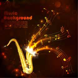 Cv Template Download by Creative Gold Musical Background With Saxophone Free Vector