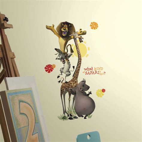 madagascar wall stickers madagascar safari peel and stick wall decals