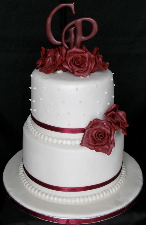 Wedding Layer Cake by Sugarcraft By Soni Two Layer Wedding Cake With Roses