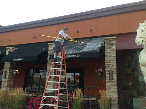 Cleaning An Awning awning cleaning chicago restaurant cleaning chicago
