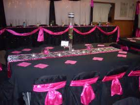 pink and black wedding decor exclusive linens chair covers wedding elegance by joelle