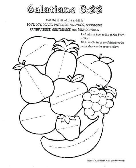 bible coloring pages for middle school 12 may 05 fruit of the holy spirit religious ed