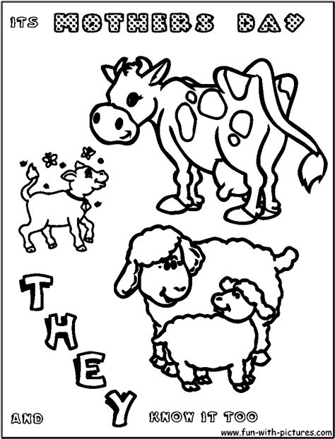 free mother baby coloring pages