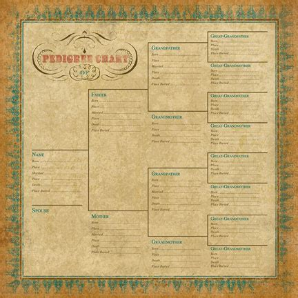 printable family tree for scrapbook ancestry com pedigree chart scrapbook your family tree