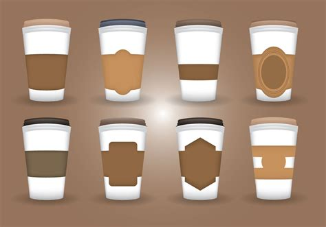 coffee sleeve vector download free vector art stock
