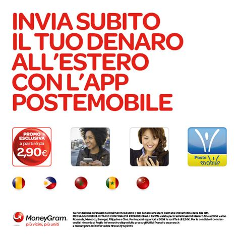 poste mobile estero postemobile moneygram la promozione per inviare denaro