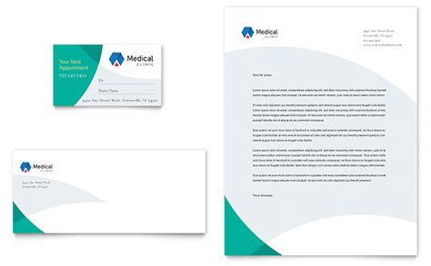 microsoft office card templates doctor s office business card letterhead template design