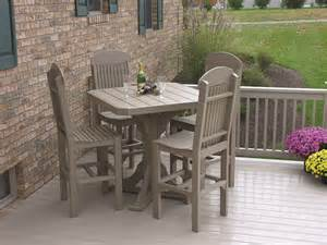 41 quot square pub table with 4 chairs patio table sets