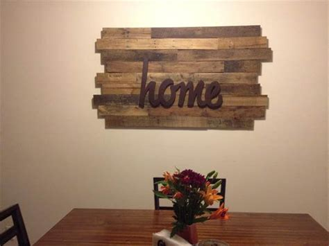 10 diy wood pallet wall art ideas 99 pallets