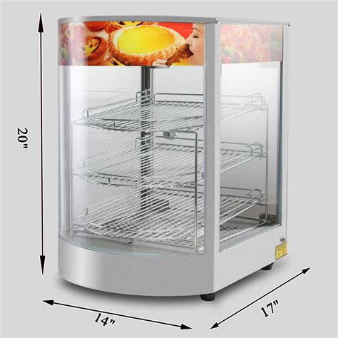 heated food display warmer cabinet case catering heated display cabinet pie chicken warmer