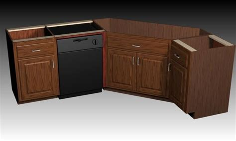 Corner Kitchen Sink Base Cabinet by Designing A Corner Sink Cabinet