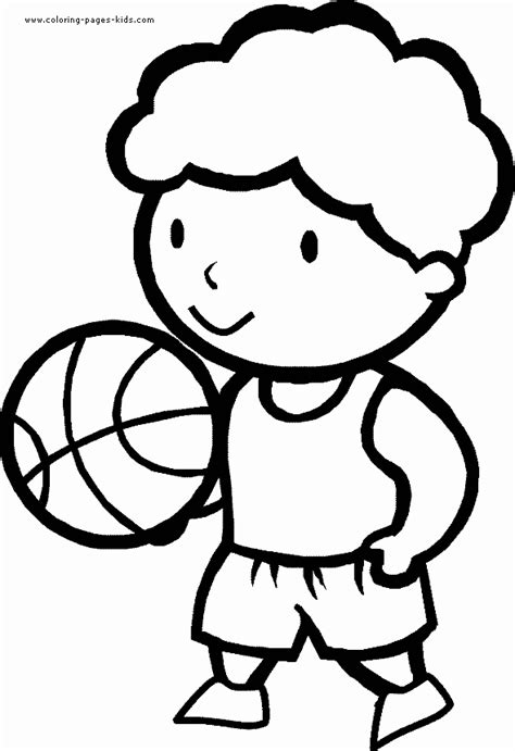 Free Coloring Pages Of Boy Playing Ball Sports Coloring Pages For Boys Printable