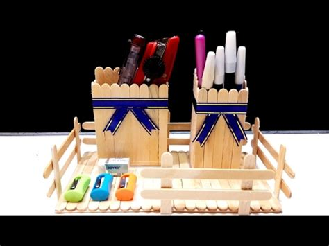youtube membuat es krim mainan membuat tempat pensil keren dari kayu stik es krim diy