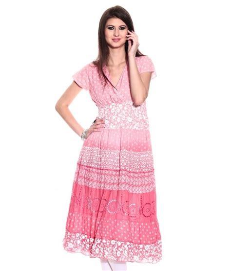 globus pink cotton printed boat biba pink printed cotton kurti shopping india snapdeal sweet