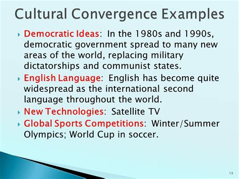 cultural themes exles cultural diffusion and convergence ppt video online download