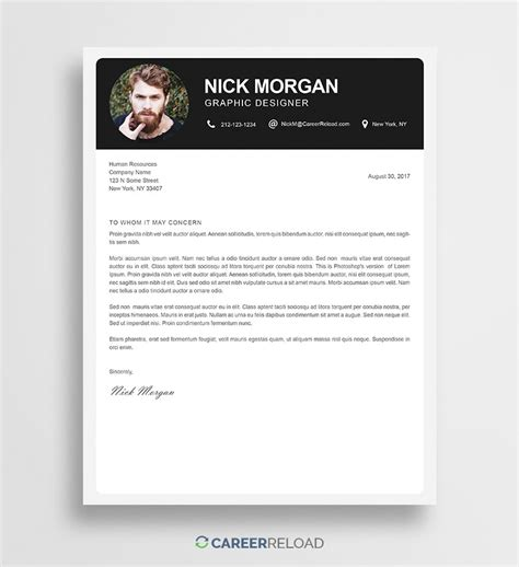 photoshop template letter free photoshop cover letter templates free download
