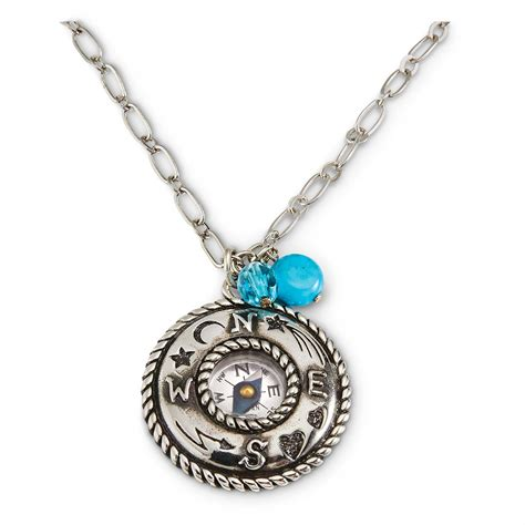 Compass Necklace compass necklace 653424 jewelry at sportsman s guide