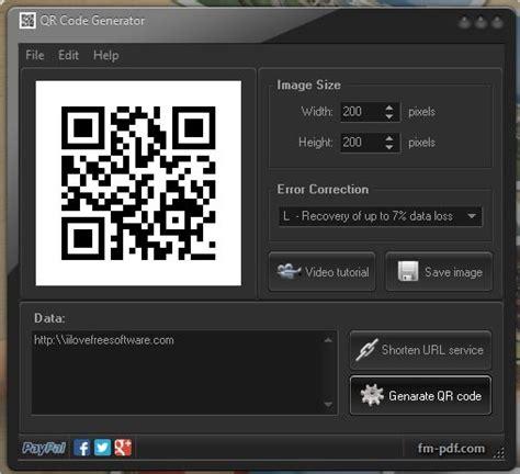 qr code generator software  windows