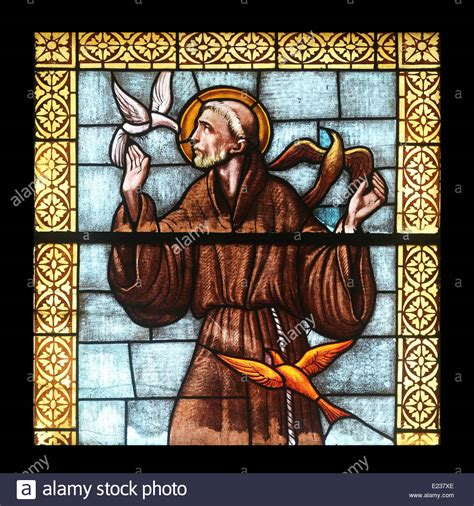 stained glass windows st francis of assisi new orleans la saint francis of assisi stained glass window in the