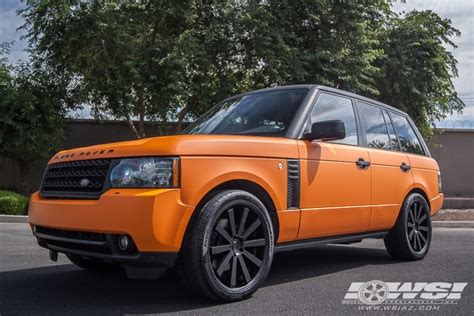 matte orange range rover 2011 land rover range rover sport with 22 quot gianelle santo