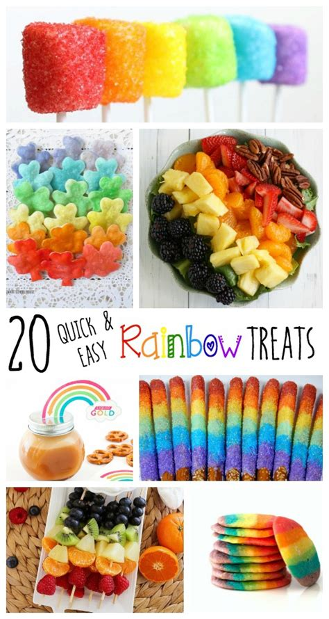 easy to make treats 20 and easy rainbow treats endlessly inspired