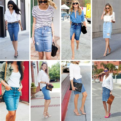shoes to wear with denim pencil skirt style guru
