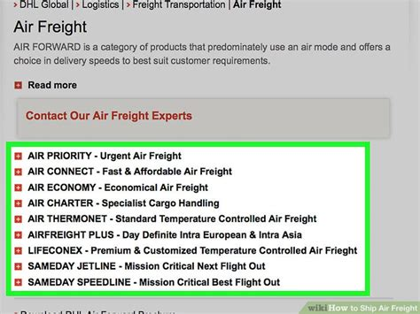 ship air freight  steps  pictures wikihow
