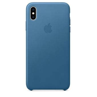 apple iphone xs max leather cape cod blue fnac be hoesje voor mobiele telefoon