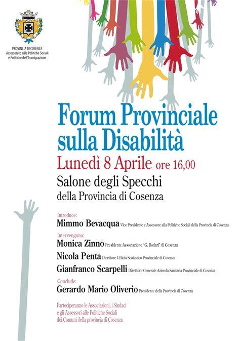 ufficio scolastico provinciale di catanzaro a cosenza il forum provinciale sulla disabilit 224