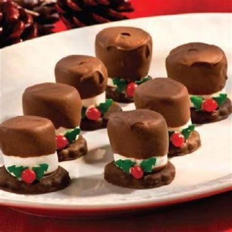 15 easy christmas treats marshmallow snowman hats guff