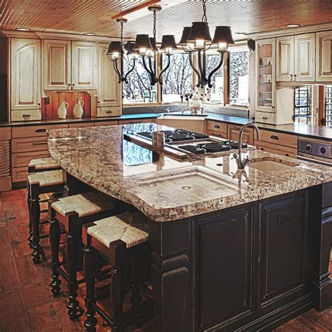 center island with stove top island with stove top and sink black and white