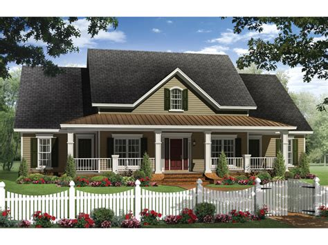 Boschert Country Ranch Home Plan 077d 0191 House Plans House Plans With Wide Front Porch