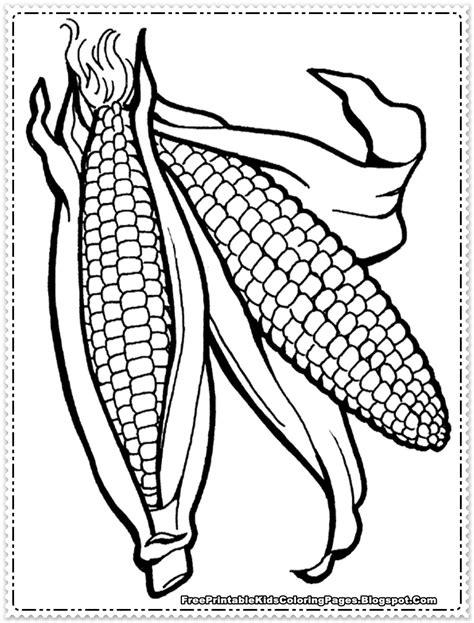 corn color page corn coloring pages printable free printable