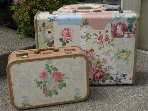 How To Decoupage A Suitcase - 17 best images about suitcase on vintage