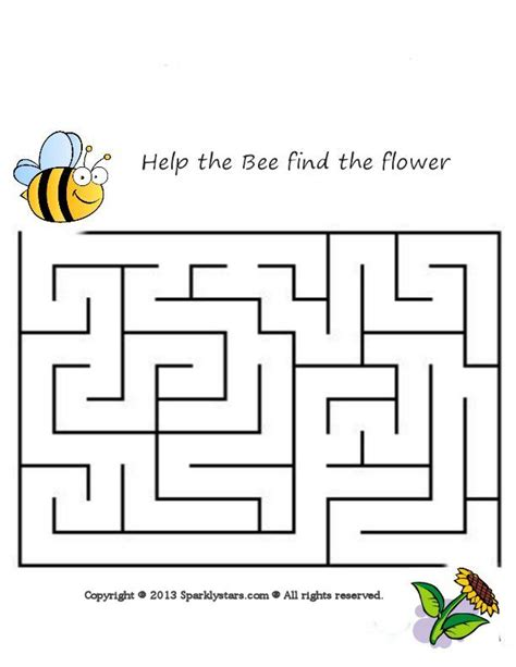 printable maze age 5 bee maze age 3 5 best games resource