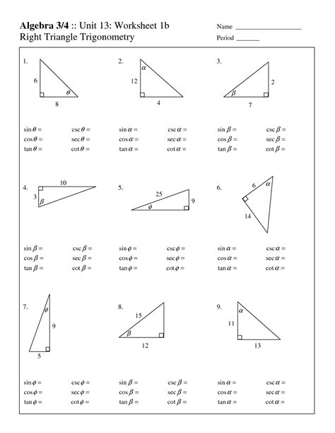 free fact triangles worksheets activity shelter